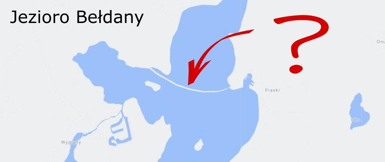 Jezioro Bełdany przecięte na pół mierzeją?